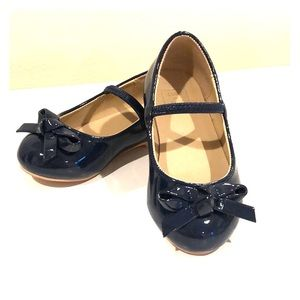 Janie and Jack Girls' patent leather navy flats